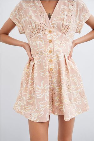 Zara Printed rustic playsuit