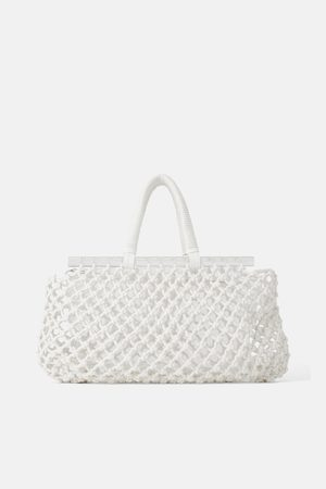Zara Methacrylate mesh tote bag