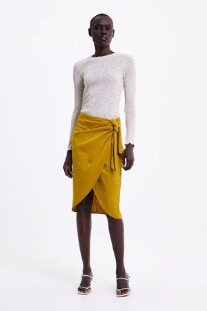 Zara Knotted wrap skirt