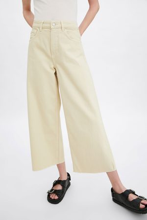Zara Cropped mid-rise culotte jeans