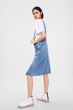 Zara Denim skirt with braces