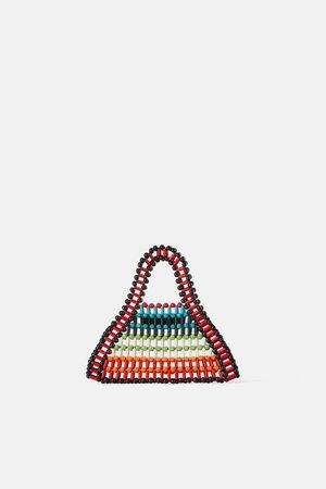 Zara Mini beaded tote bag