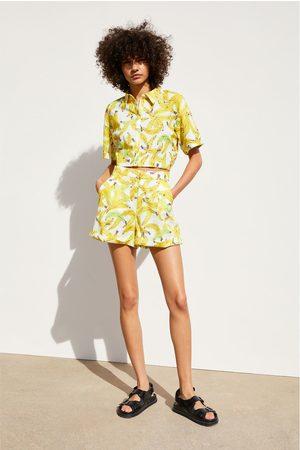 Zara Banana print bermuda shorts