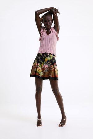 Zara Flowing printed bermuda shorts