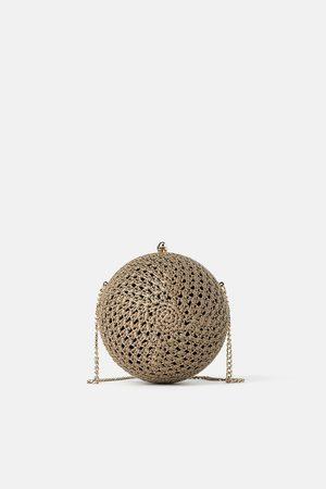 Zara Round crochet minaudière crossbody bag