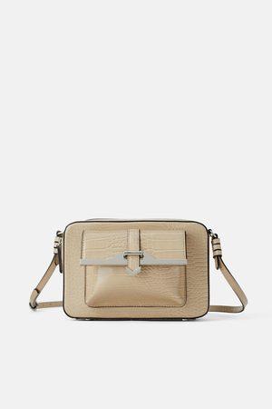 Zara Animal print crossbody bag