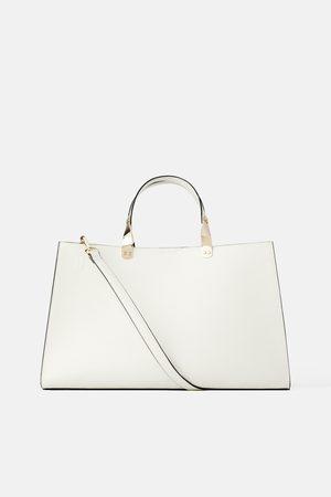 Zara Rectangular animal print tote bag