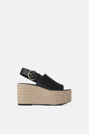 Zara Join life buckled wedges
