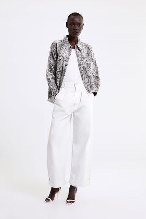 Zara Animal print jacket with studs
