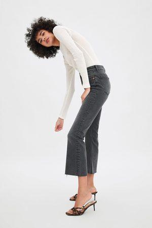 Zara Hi-rise mini flare jeans