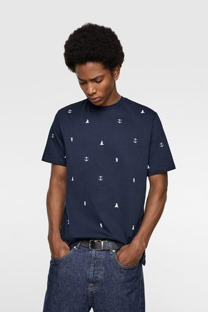Zara T-shirt with nautical embroidery