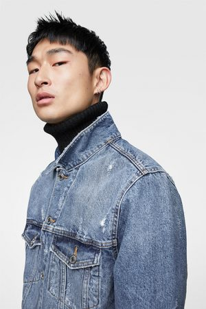 Zara Denim jacket with back print