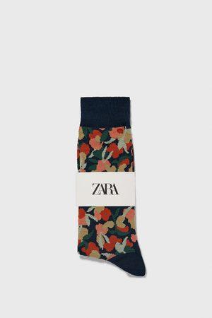 Zara Miehet Sukat - Floral jacquard socks
