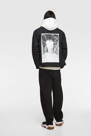 Zara Miehet Farkkutakit - Printed denim jacket