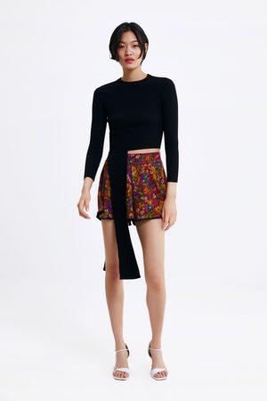 Zara Naiset Bermuda-shortsit - Printed bermuda shorts