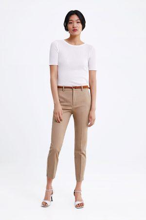 Zara Naiset Chinot - Chino trousers with belt