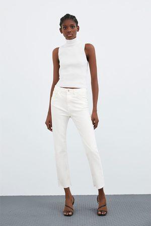 Zara Naiset Kapeat Housut - Hi-rise slim fit jeans