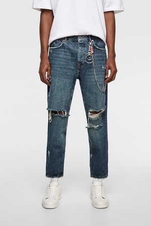 Zara Cropped relaxed fit jeans