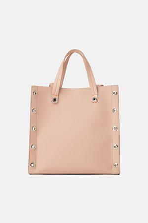 Zara Square tote bag eyelets