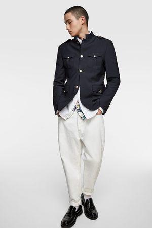 Zara Miehet Bleiserit - Buttoned blazer with stand-up collar