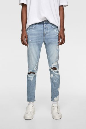 Zara Splashed-effect skinny jeans
