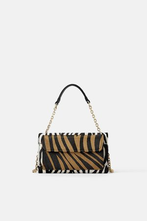 Zara Naiset Lompakot & Kukkarot - Animal print leather double-purse crossbody bag
