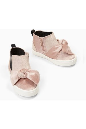 Zara HIGH TOP SNEAKERS WITH VELVET BOW
