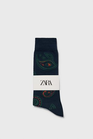 Zara Paisley jacquard socks