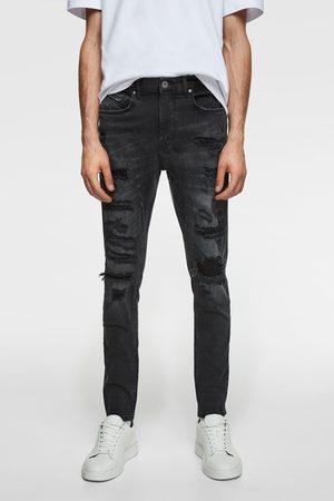 Zara Miehet Farkut - Ripped skinny jeans