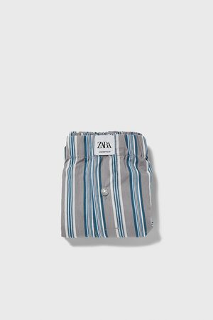 Zara Striped poplin boxers
