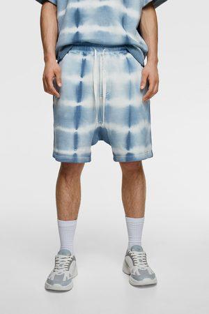 Zara Tie-dye print bermuda shorts