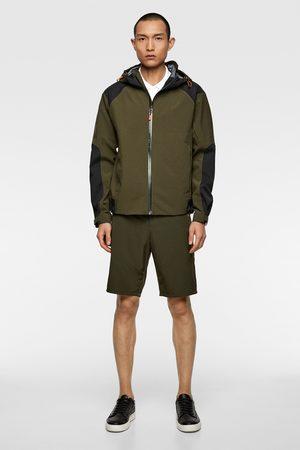Zara Belted technical bermuda shorts