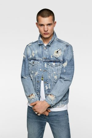 Zara Ripped denim jacket