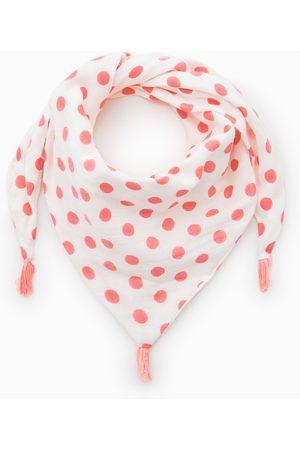 Zara Triangle polka dot scarf
