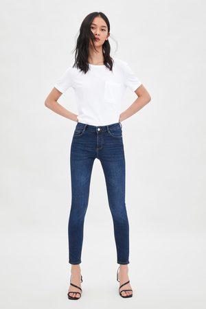 Zara Mid rise skinny compact regular length essential jeans