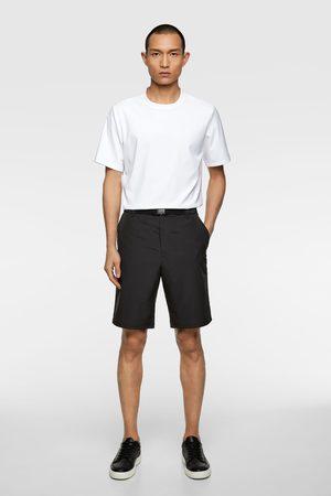 Zara Miehet Bermuda-shortsit - Belted technical bermuda shorts