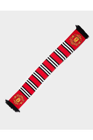 Official Team Manchester United FC Stripe Scarf - Mens
