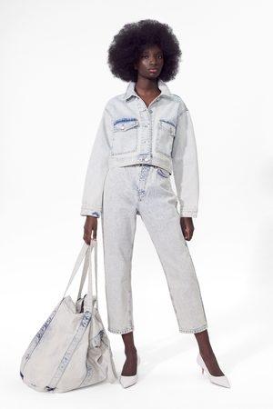 Zara Hi-rise straight-leg jeans
