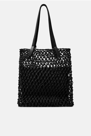 Zara Naiset Isot laukut & ostoslaukut - Tote bag with knotted fabric