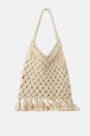 Zara Naiset Isot laukut & ostoslaukut - Crochet tote bag