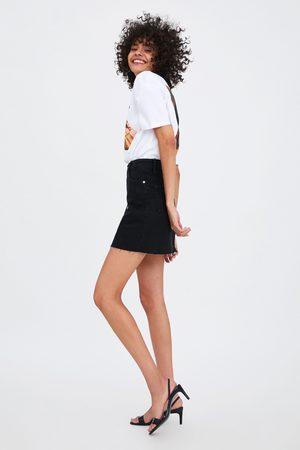 Zara Naiset Denim miniskirt