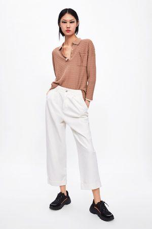 Zara Textured knit polo shirt