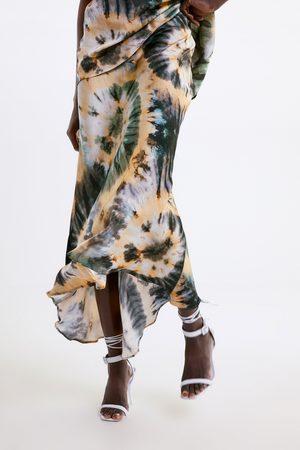 Zara Tie-dye print skirt