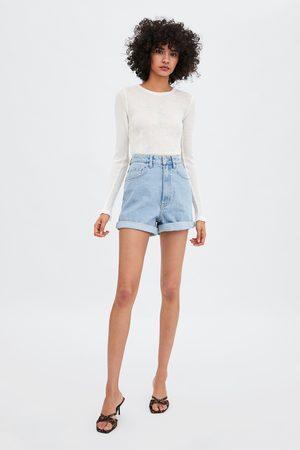 Zara Edited authentic denim mom bermuda shorts