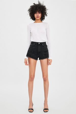 Zara Edited ripped denim shorts