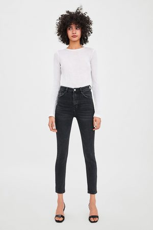 Zara Edited vintage hi-rise jeggings with ripped detailing