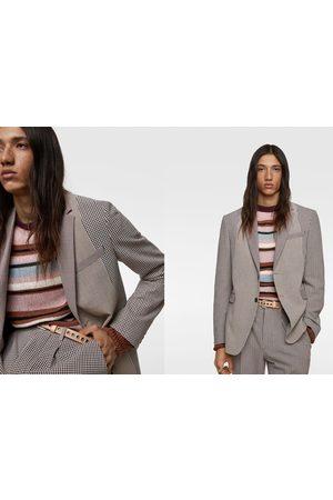 Zara Patchwork suit blazer