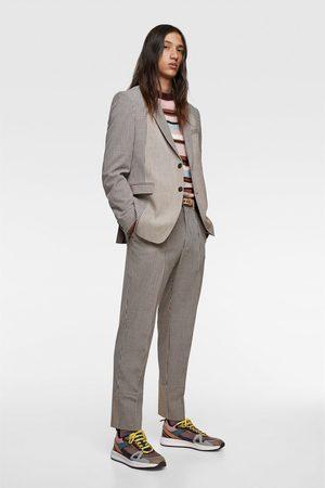 Zara Patchwork suit trousers