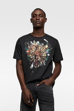 Zara Contrast print t-shirt