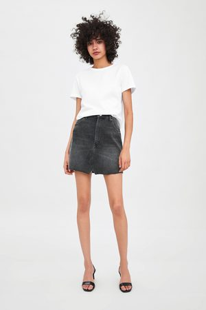 Zara Edited denim mini skirt